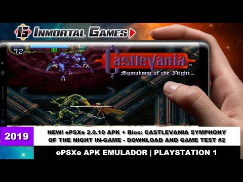NEW! EPSXe 2.0.10 APK + Bios: CASTLEVANIA SYMPHONY OF THE NIGHT IN-GAME - DOWNLOAD AND GAME TEST #2