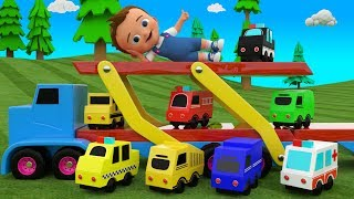 Little Baby Learning Street Vehicles Names | Colors For Children With Vehicles Toy Trucks