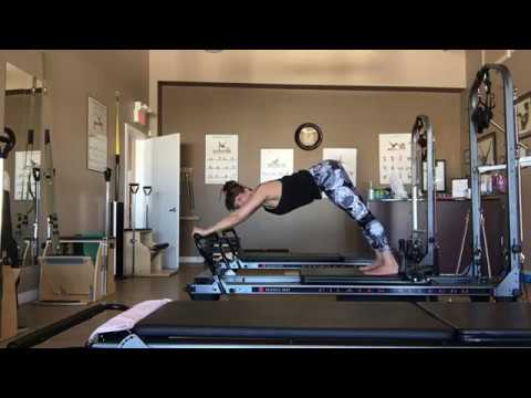 Reformer Pilates Beginner Intermediate Apparatus class with Trainer Fiona Hermanutz