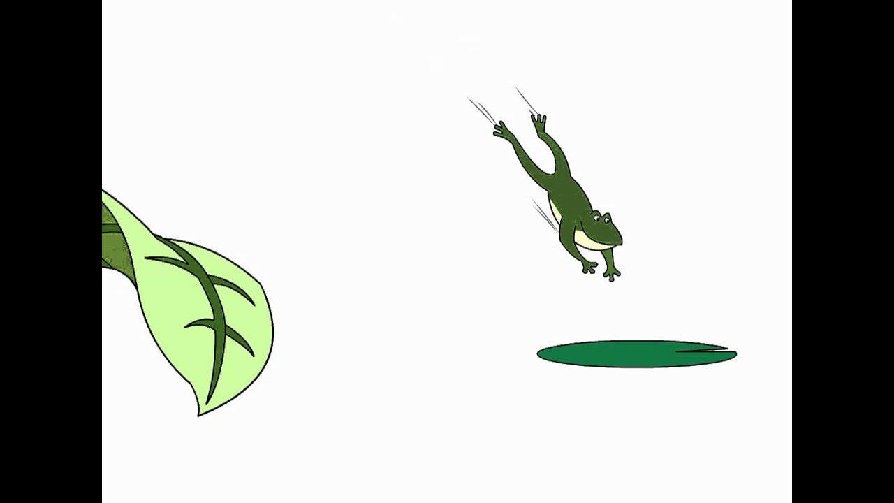 Jumping frog animation - YouTube