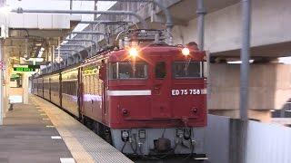 ED75+旧型客車 太子堂駅通過 thumbnail