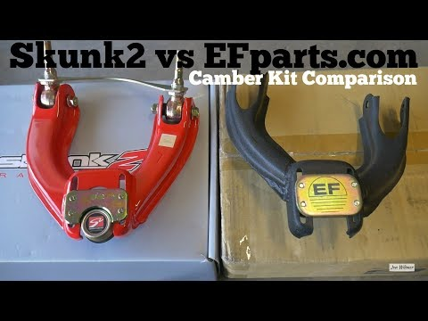 Skunk2 vs EFparts.com Camber Kit - Comparison and Install 88-91 on Civic CRX