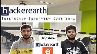 Hackerearth & Tripshire Web Developer Interview questions - Naman gets offcampus offers!