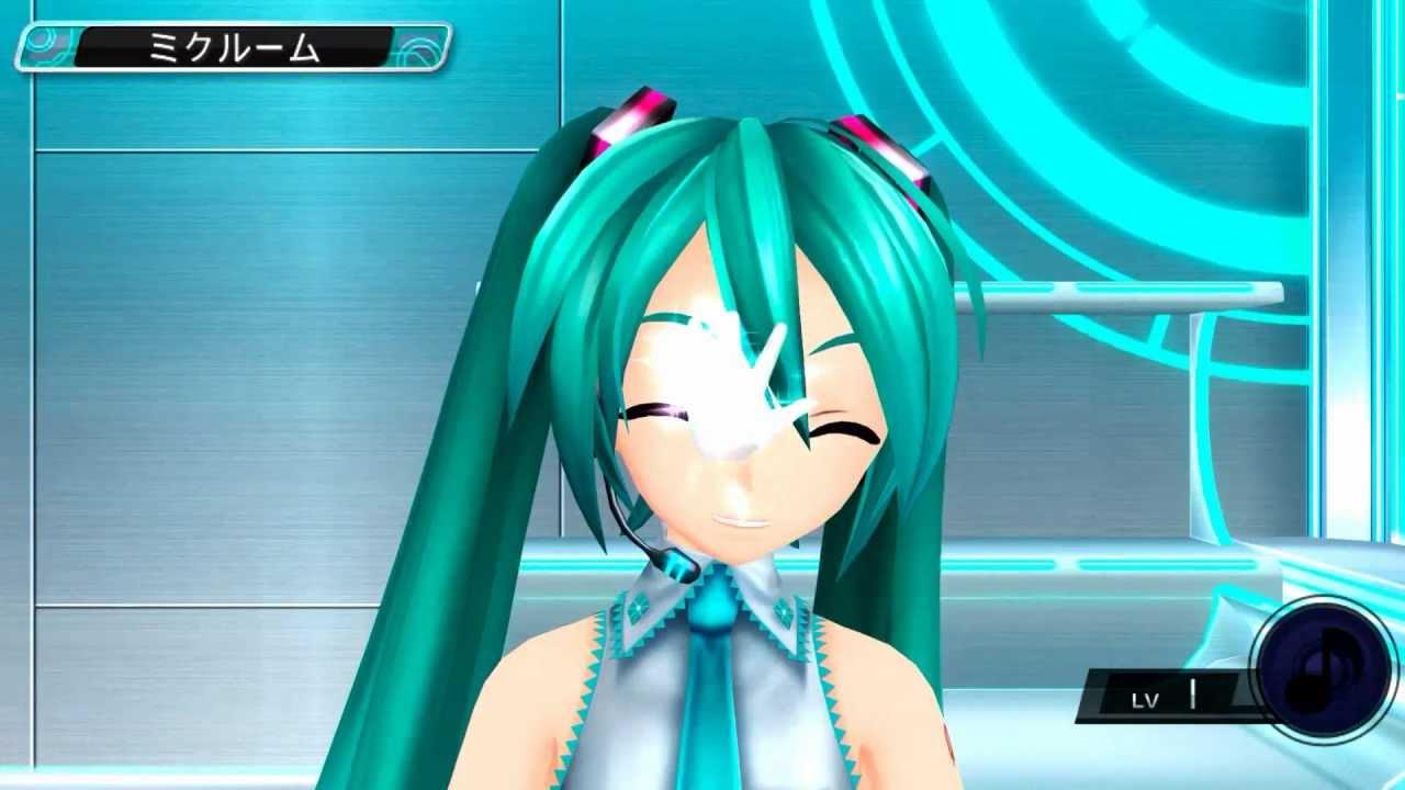 Vocaloid Anime Wallpaper Project Diva F 』 Diva Room Rubbing Miku S Face