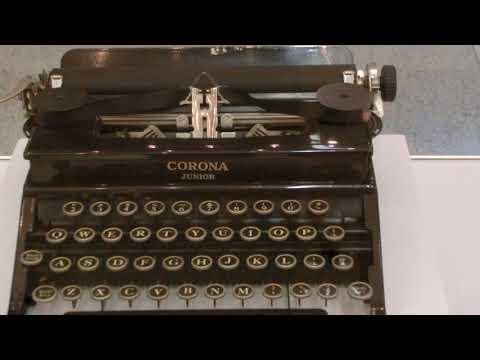 Tennesee Williams Corona Junior 1936 Typewriter