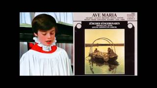 Daniel Perret boy soprano) sings Ave Maria (BachGounod) ~1995, The Zurich Boys Choir