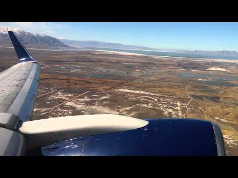 Delta Airlines Boeing 757-200 (Winglets) Take Off from Salt Lake City International Airport