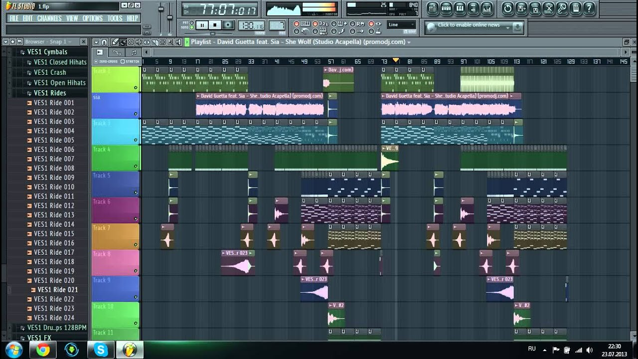 David Guetta Ft Sia She Wolf In Fl Studio Cover FLP