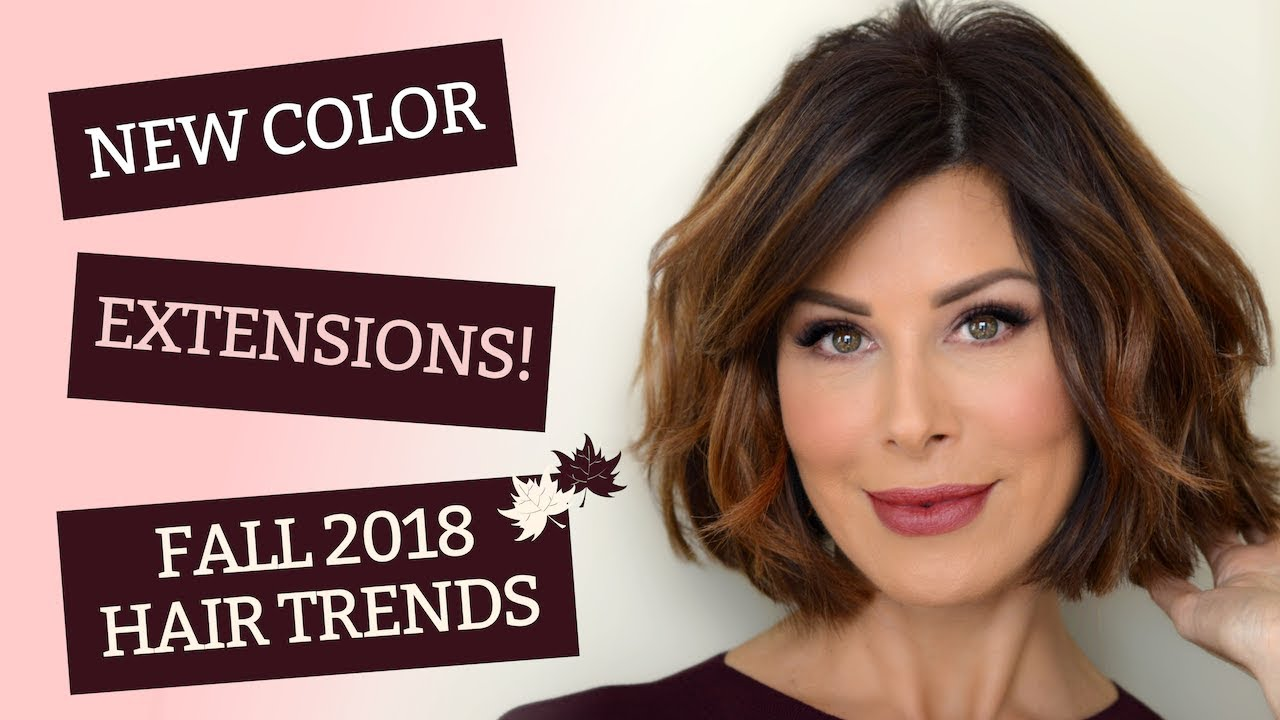 New Color Extensions Fall 2018 Hair Trends Dominique Sachse