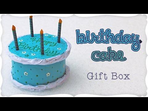 Mini Birthday Cake Gift Box Tutorial 🎂