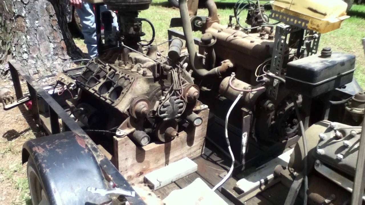 Flathead Ford V8 Running On 4 Cylinders With One Cylinder Head Off