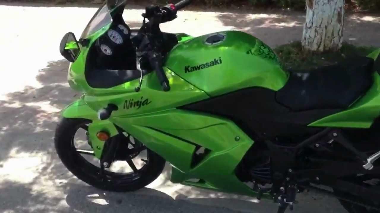 Kawasaki Ninja 250R 2012 Candy Lime Green  YouTube