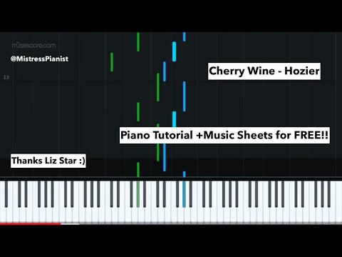 Cherry Wine - Hozier (Piano Tutorial) -- LIZ STAR'S RENDITION