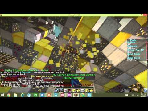 Minecraft prison road to z ranks G-J  with golden bow gaming