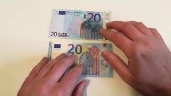 Neuer 20 Euro Schein vs Alter 20 Euro Schein