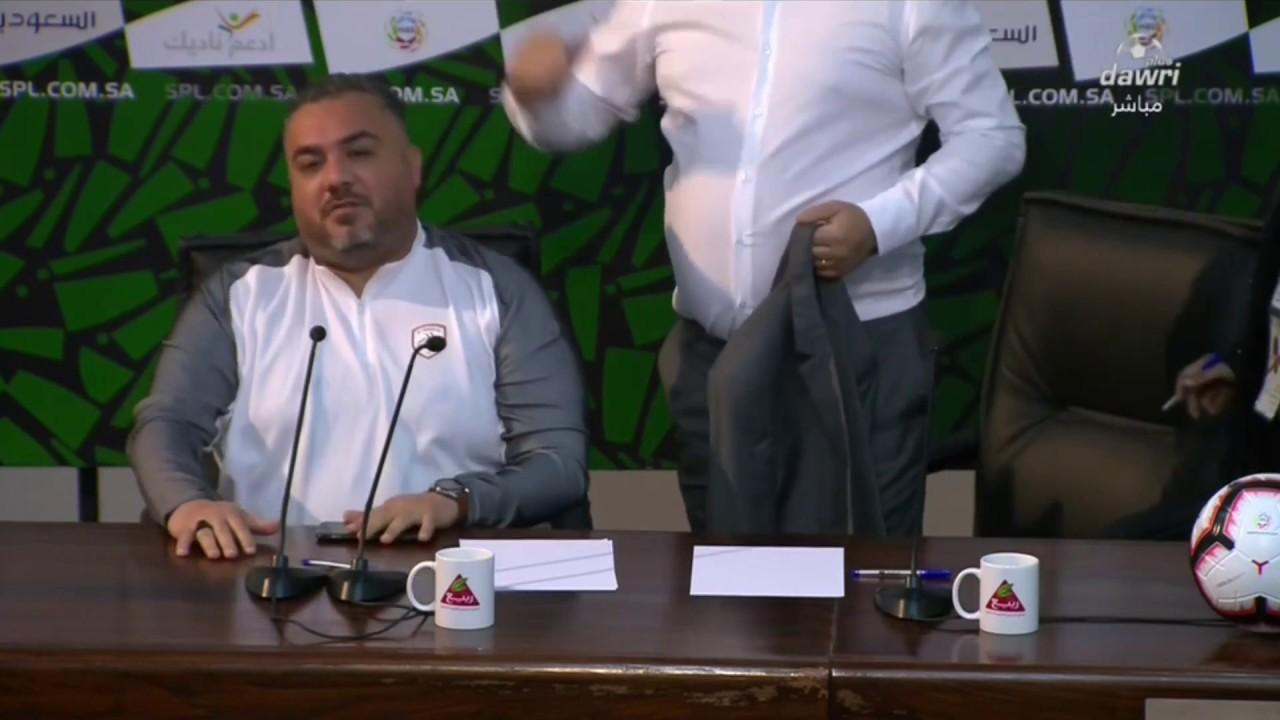 مدرب الشباب في المؤتمر الصحفي: مبروك للنصر، مبروك للفار، مبروك للحكام