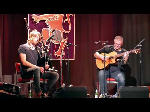 """Great bagpipe tune """"Unite the Clans"""" performed by Ross Ainslie and Tim Edey in Braemar, Sept 2019"""