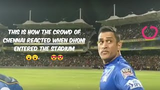Chennai crowd reacts when Dhoni entered the stadium for practice