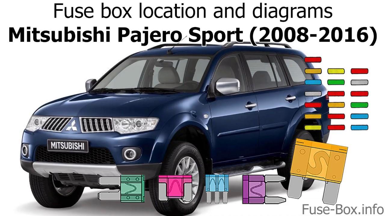 Fuse Box Location And Diagrams Mitsubishi Pajero Sport 2008 2016 Youtube