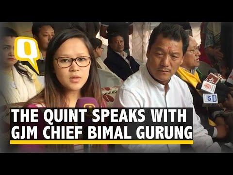 Thumbnail: The Quint: Bimal Gurung: Have Given BJP 2019 Deadline to Form Gorkhaland