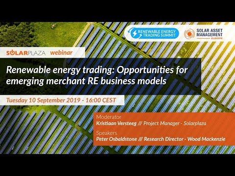 Renewable energy trading: Opportunities for emerging merchant RE business models