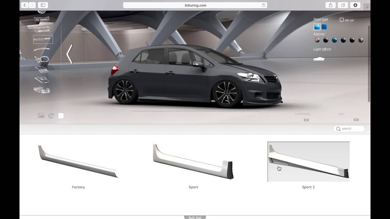 3d tuning tutorial toyota auris youtube. Black Bedroom Furniture Sets. Home Design Ideas
