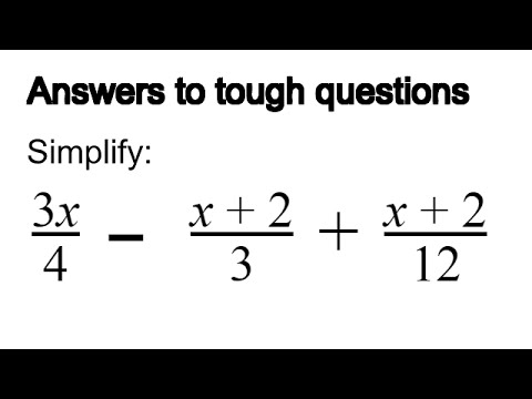 how to simplify an algebra fraction  youtube