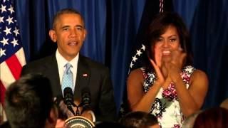 Obama Speaks to Embassy Staff in Havana