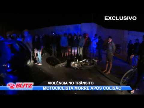 MOTOCICLISTA MORRE APÓS BATER EM CARRO