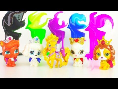 Disney Princess Palace Pets slime surprise game Королевские питомцы Принцесс Диснея игра лизуны