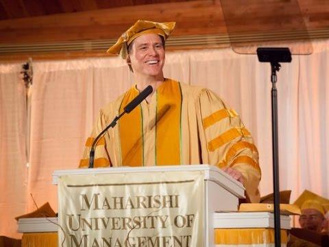 Jim Carrey: fakulta MUM - promoční projev