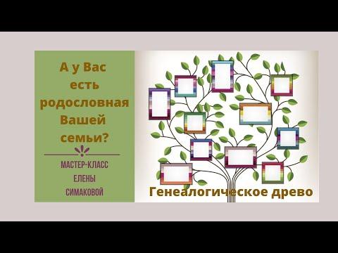 """Мастер-класс """"Создание генеалогического древа"""" урок 1"""