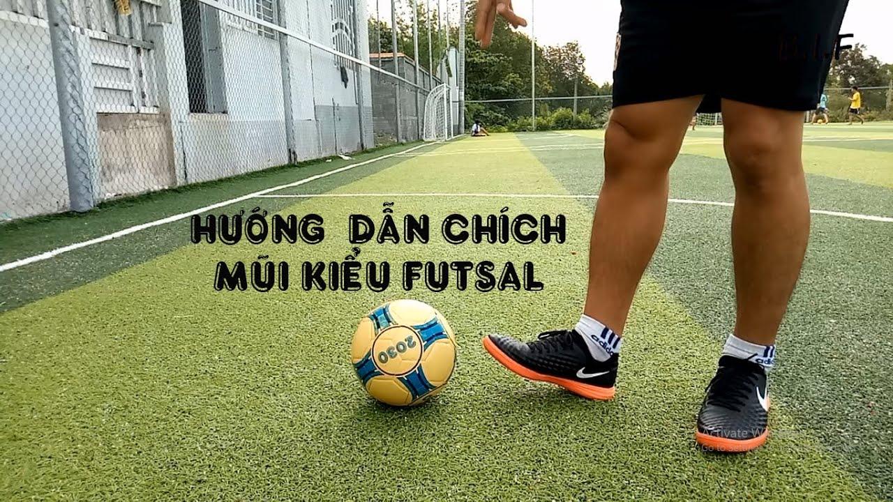 HƯỚNG DẪN KỸ THUẬT CHÍCH MŨI GIÀY KIỂU FUTSAL TRONG BÓNG ĐÁ | Bi Football