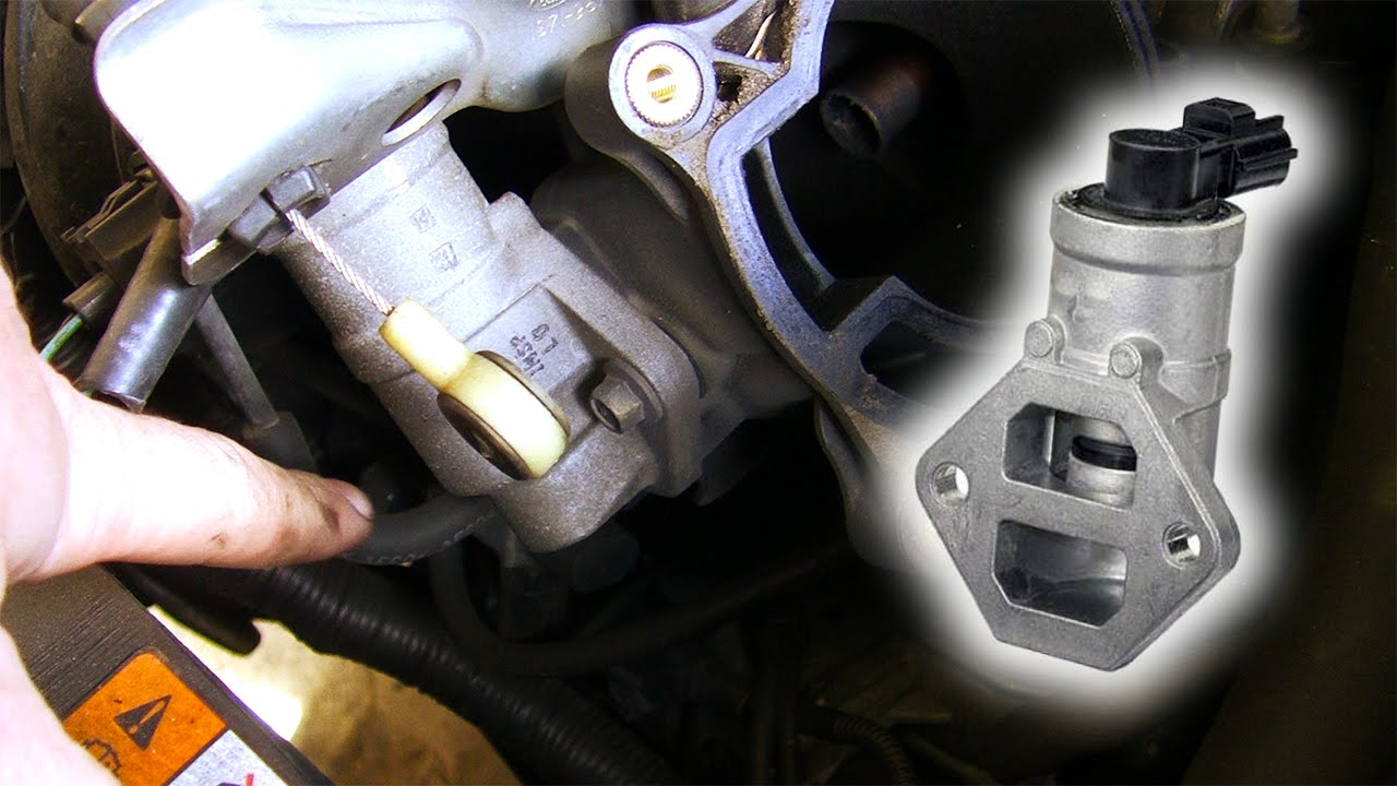 how to clean \u0026 replace idle air control valve ford duratec he