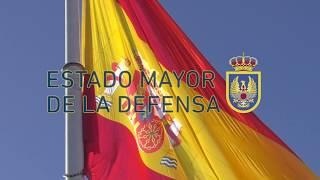 Izado de Bandera en la Plaza de Colón