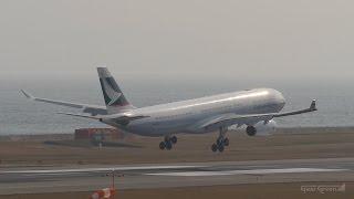 キャセイパシフィック航空 [香港] エアバスA330-300 関西国際空港 ラン...