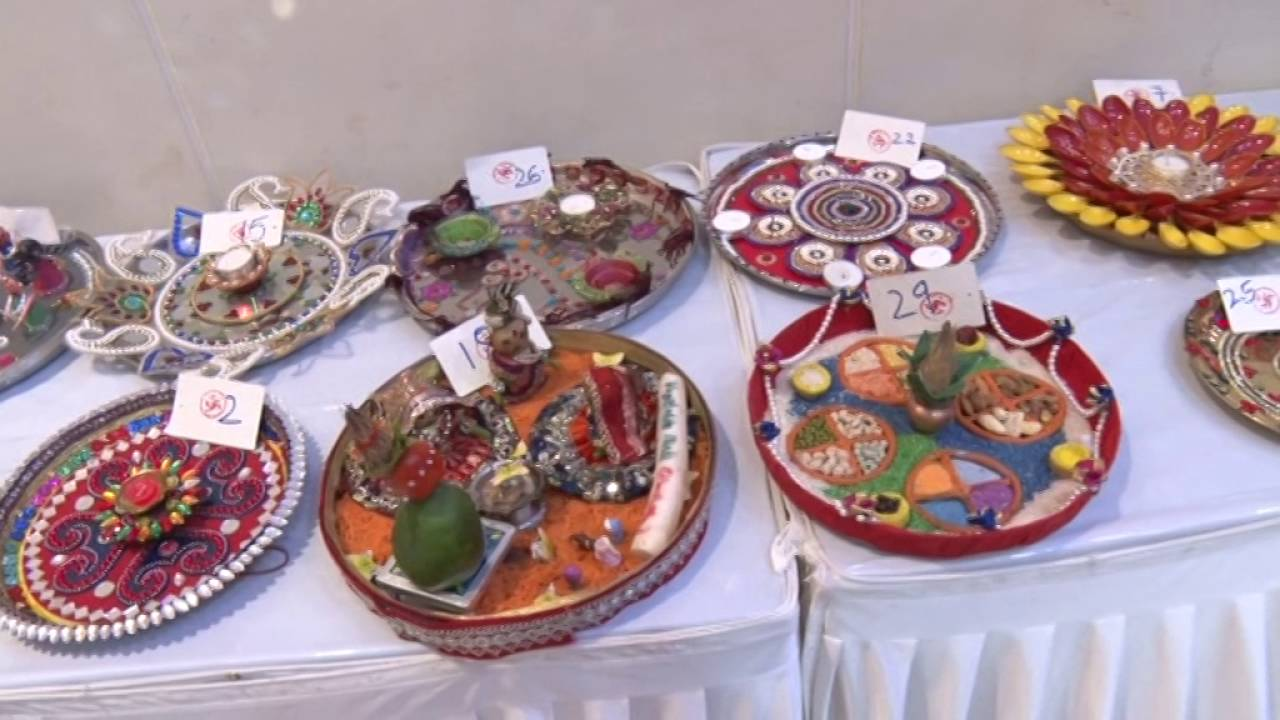 Adl aarti thali decoration 2016 youtube for Aarti thali decoration competition