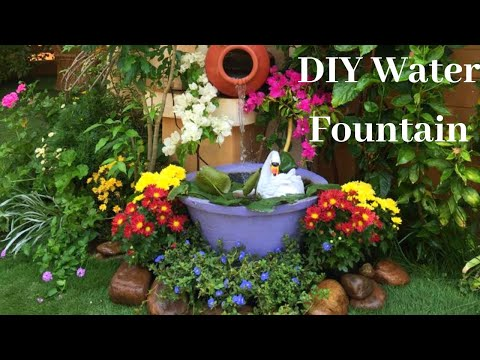 Easiest water fountain||Clay pot fountain in just 5 mins||DIY Water Fountain