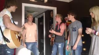 r5 practicing loud backstage