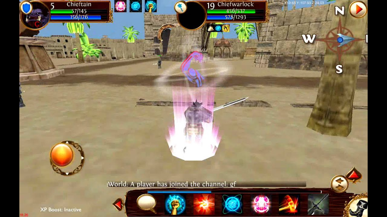 Phone Mmorpg For Android Phones fighter vs mage pvp rec on phone 3d ipadiphoneandroid ipadiphoneandroidpcmac mmorpg migard rising wow