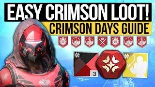 Destiny 2 News | CRIMSON DAYS GUIDE! - Fast Crimson Engram Trick, All New Rewards & How to Get Them!