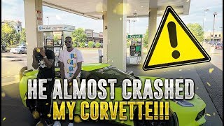 I LET MY BROTHER DRIVE MY CORVETTE!!! He almost crashed!!!