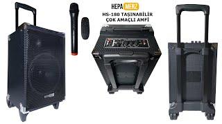 Hepa Merz HS-180 Taşınabilir Ses Sistemi Çanta Amfi Saz Gitar Amfisi Karaoke Hoparlör