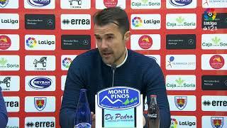 Rueda de prensa de Aritz López Garai tras el CD Numancia vs CA Osasuna (1-1)