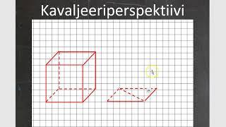 Kurssi 10: Avaruusgeometria: osa5: Kavaljeeriperspektiivi
