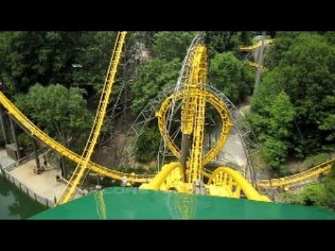 Loch Ness Monster Front Seat On Ride Hd Pov Busch Gardens Williamsburg Youtube