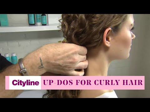 3 Simple Updo Styles for Curly Hair