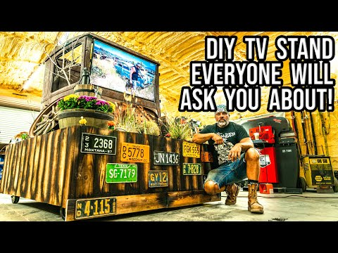 How To Make A TV Stand (One Of A Kind DIY Project!)