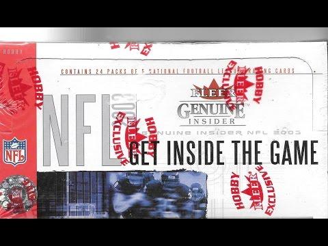 2003 Fleer Genuine Insider Football Hobby Box Break