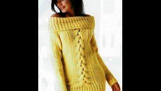 Модный Джемпер Спицами для Женщин - 2019 / Fashion Sweater Knitting Needles For Women /Mode Pullover
